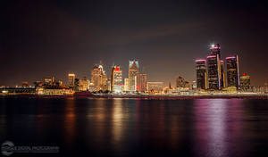 Detroit Lights the Night