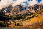 Clouds over the Maroon Bells