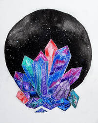 Crystals and gems by RiviAnne
