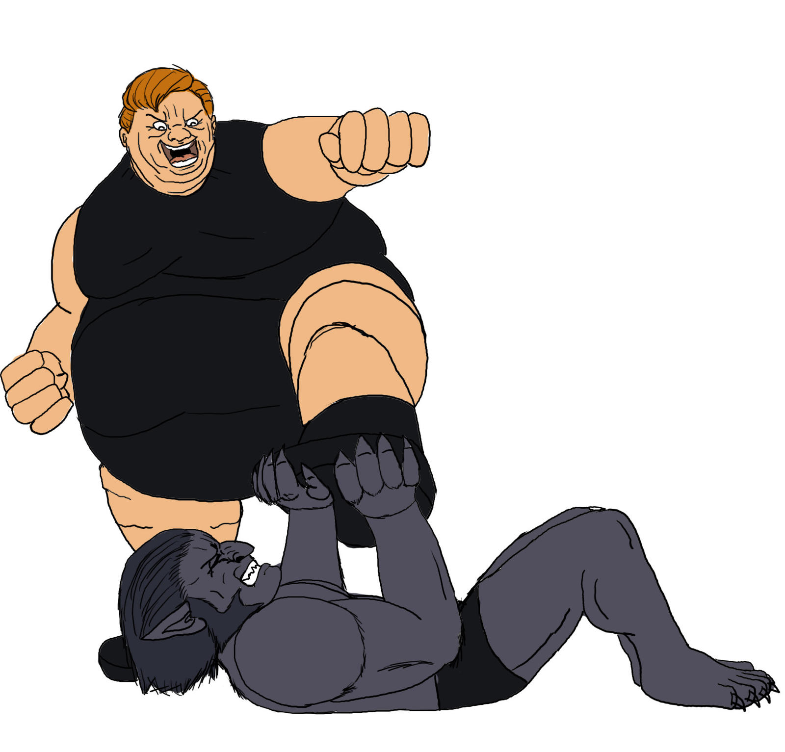 The Blob Stomps On The Beast by Big-Ogre