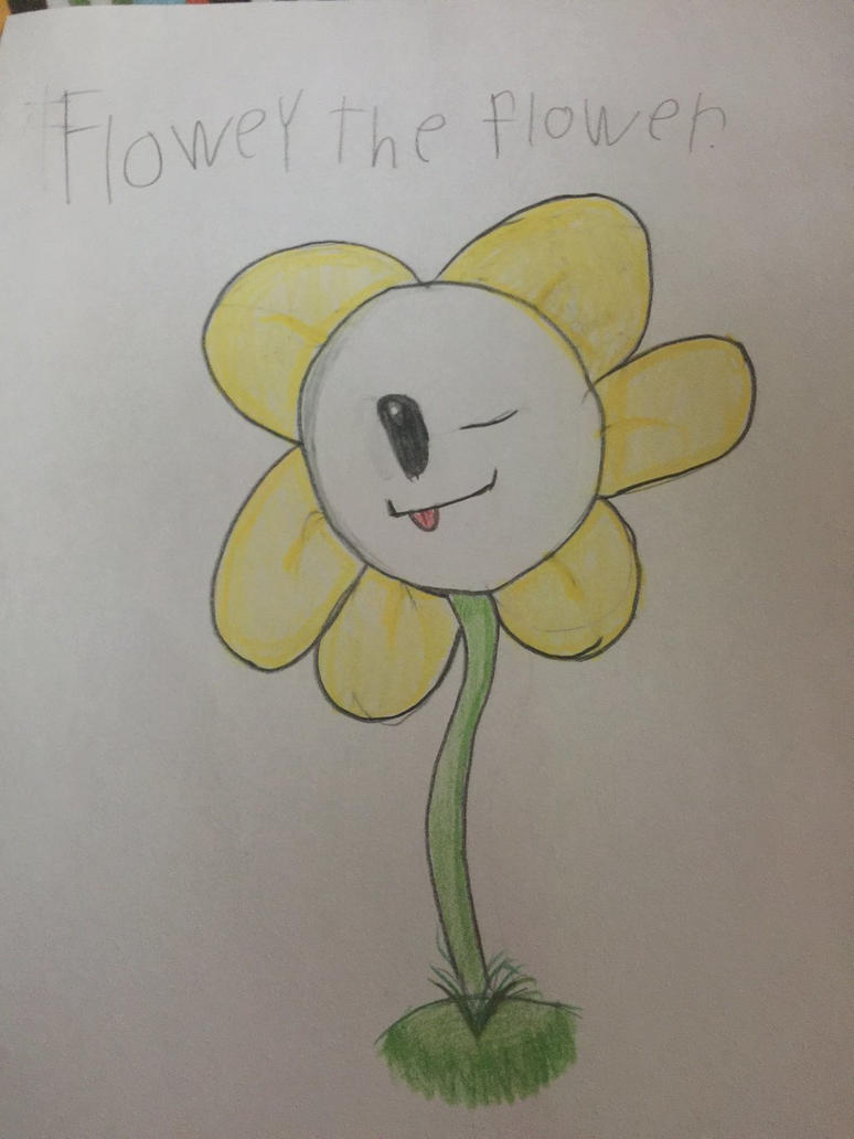 First flowey drawing by sweettooth2220