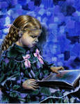 Girl reading by Lucid-01