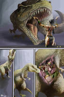 Jade and T-rex Vore by Lucid-01