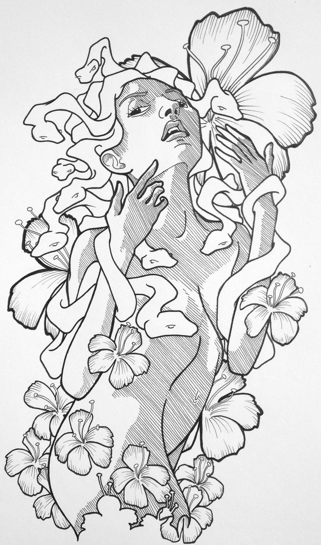 Tattoo pin up girls designs -  Medusa Pin Up Tattoo Design By Chrispanatier