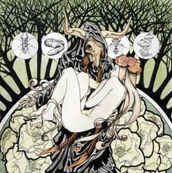 Trillium Grandiflorum Album Cover color by ChrisPanatier