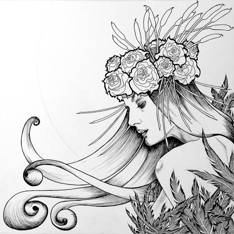 Duchess of Autumn Black and White by ChrisPanatier