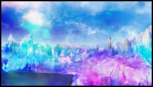 Star Nomad 2 Crystal Scene Background