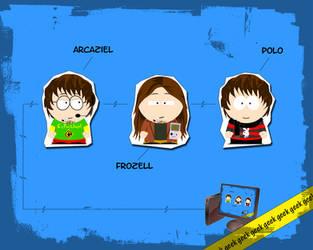 Three SP Friends by Arcaziel
