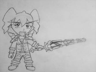 Chibi Blood Elf Pally by Arcaziel