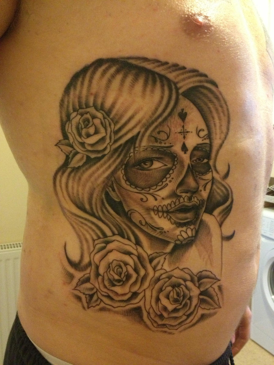 Sugar skull tattoo by nexivwho on deviantart for Candy skull tattoo