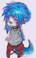 Lezard bleu by machatoune