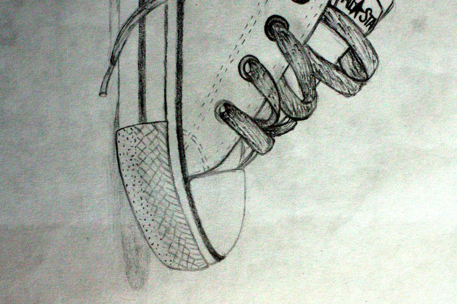 baby converse drawing