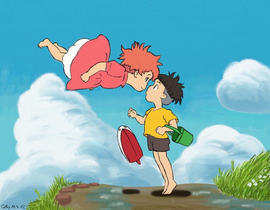 Ponyo and Sosuke by PikaCathy on DeviantArt