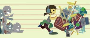 Zombies, Run! Katamari Style