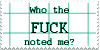 Who The FUCK Noted Me STAMP by KaomojiKun
