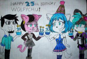 Happy 25th Birthday, Wolfychu! by ricol-wildcat