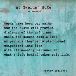 Meme - At Swords' Edge by PoetryAccident