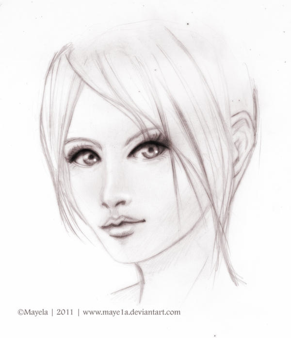 Sketch Girl face by Maye1aFace Sketch Girl Tumblr