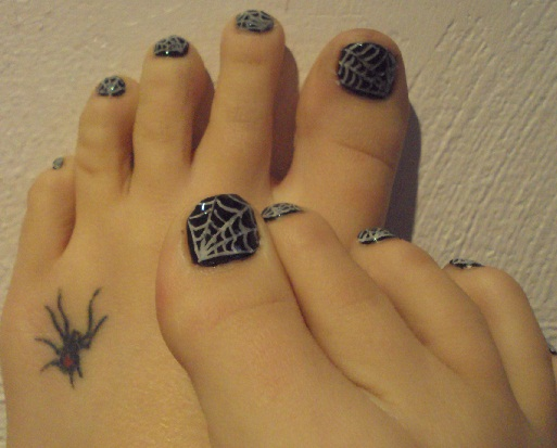 Spider web nail art by spidergirl2 on deviantart spider web nail art by spidergirl2 prinsesfo Images