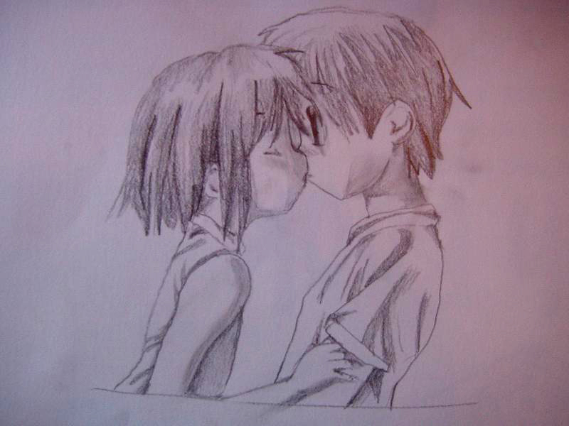 The gallery for --> Anime Love Drawings