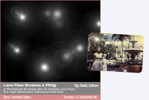 Photoshop Lens Flare Brush-Set 1 by pixelberrypie