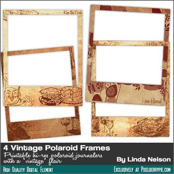 Free 4 Vintage Photo Polaroid Frames by pixelberrypie