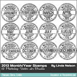 Photoshop Vector Brushes 2013 Memories Stamps