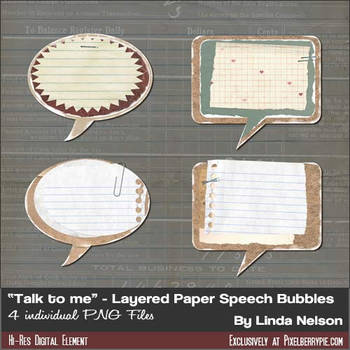 Speech, Word, Chat Bubbles- PNGs Hi-Res by pixelberrypie