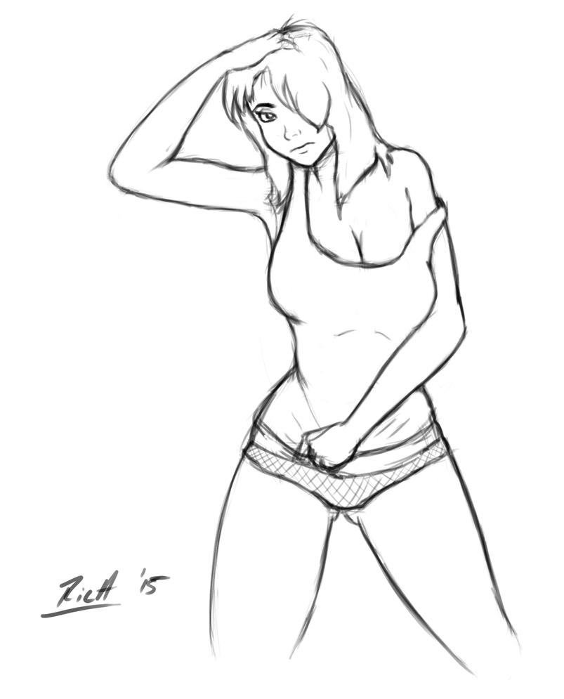 hot naked girl sketches