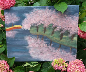 Cherry threes - First painting