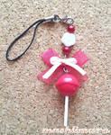 Cherry  Lollypop Phonestrap
