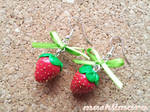 Strawberries with Ribbon Earrings