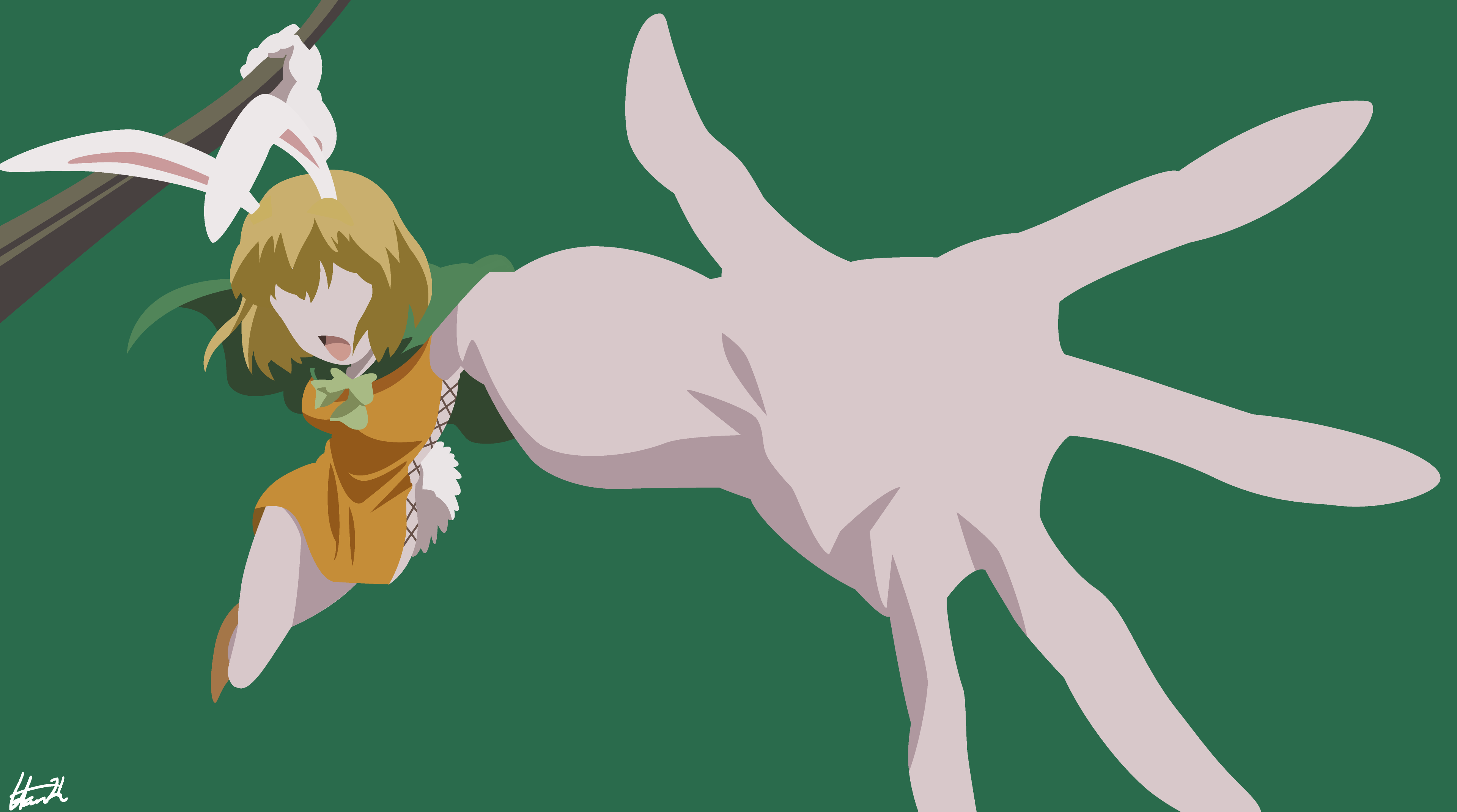 Carrot One Piece Minimalist Wallpaper By Hanszh On Deviantart