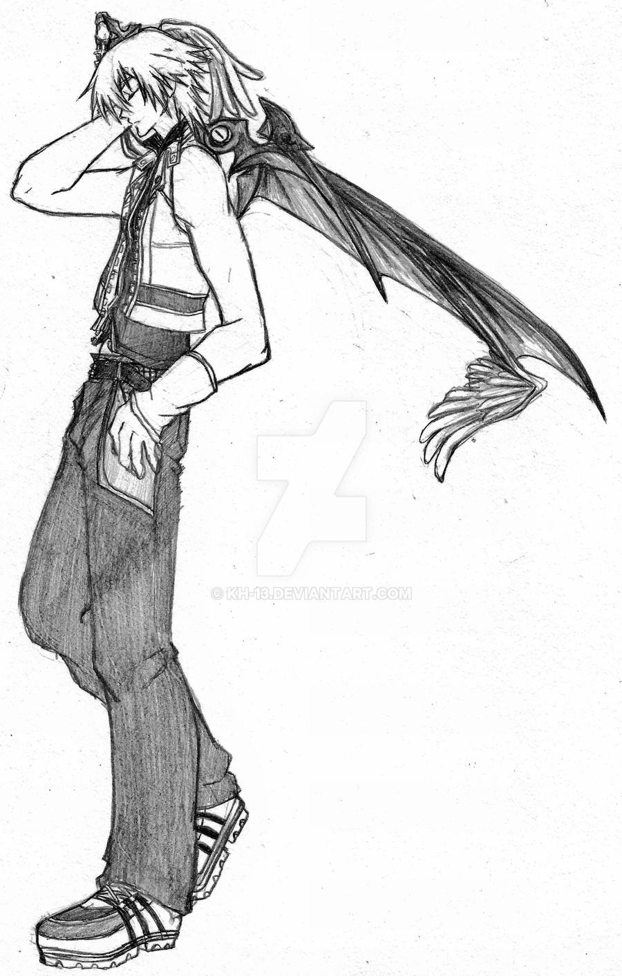 Riku (black and white) by KH-13