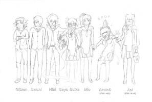 Kanojo - main characters (w.i.p) by Xykun