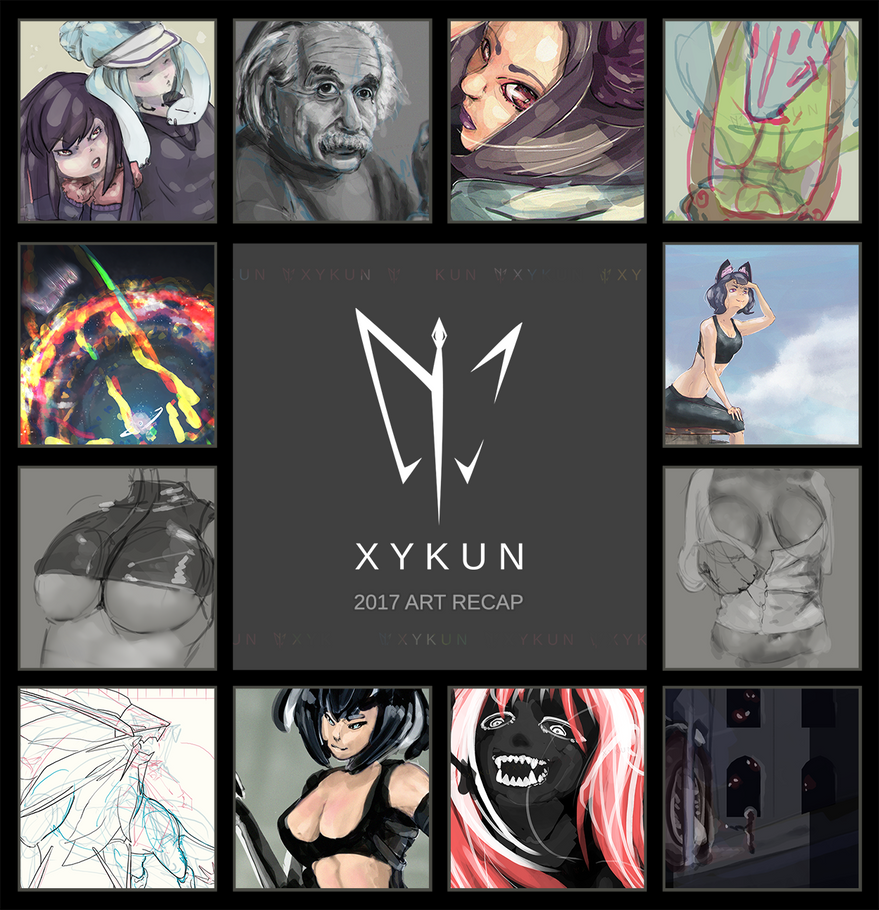 2017 Art Recap by Xykun