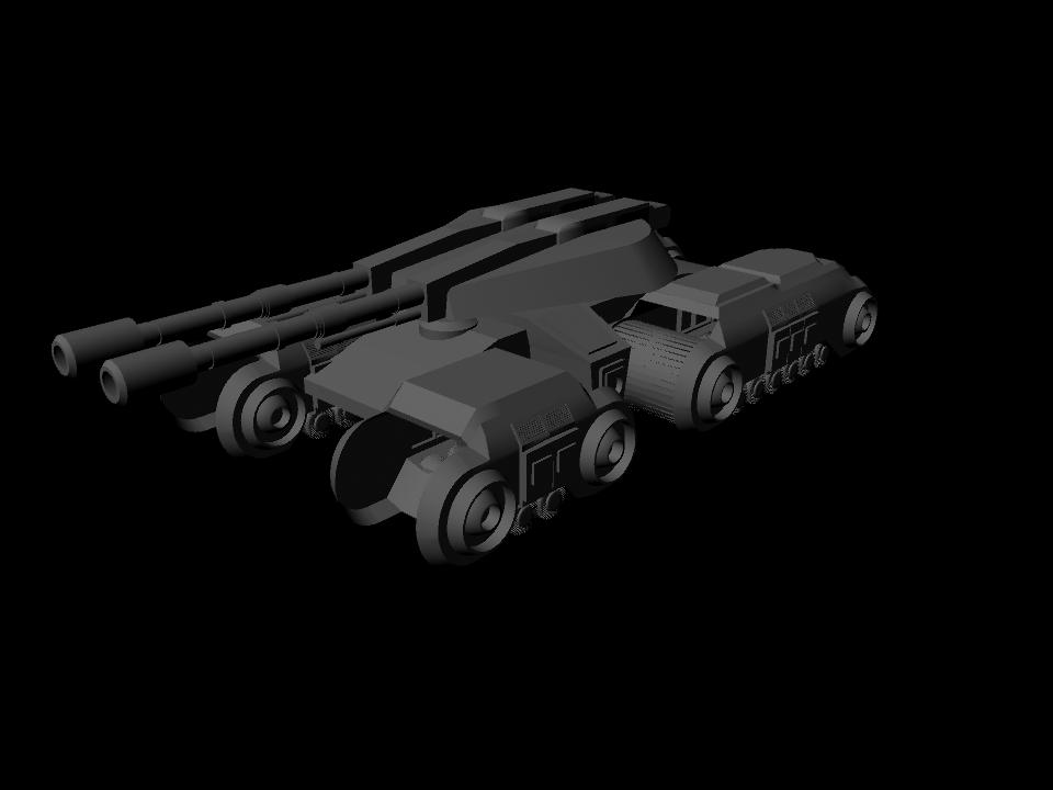 Mammoth Tank WiP 1 by Luciain