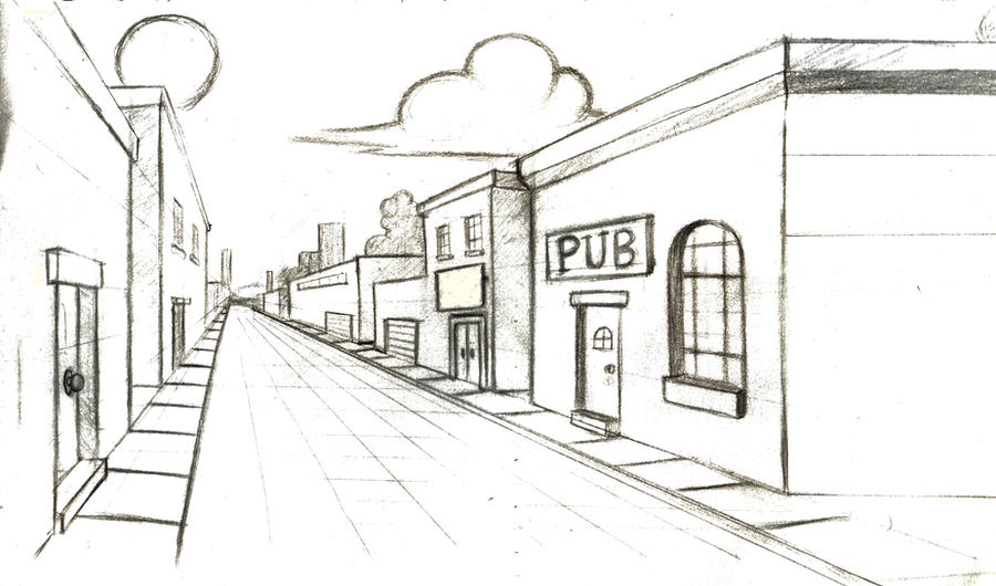 One-point perspective by Greasy-Gypsy on DeviantArt