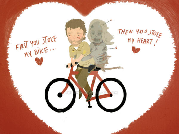 The Walking Dead Heart/bike By Chumkiu ...