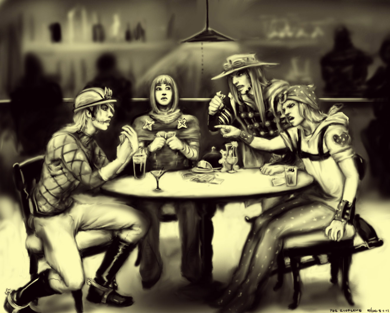 JJBA: Dio, HP, Gyro, And Jojo By Cogdis On DeviantArt