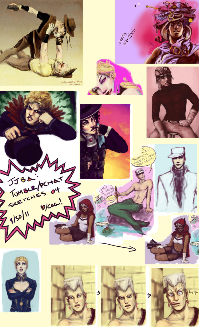 JJBA: Tumblr+Pchat Sketches 04 by cogdis