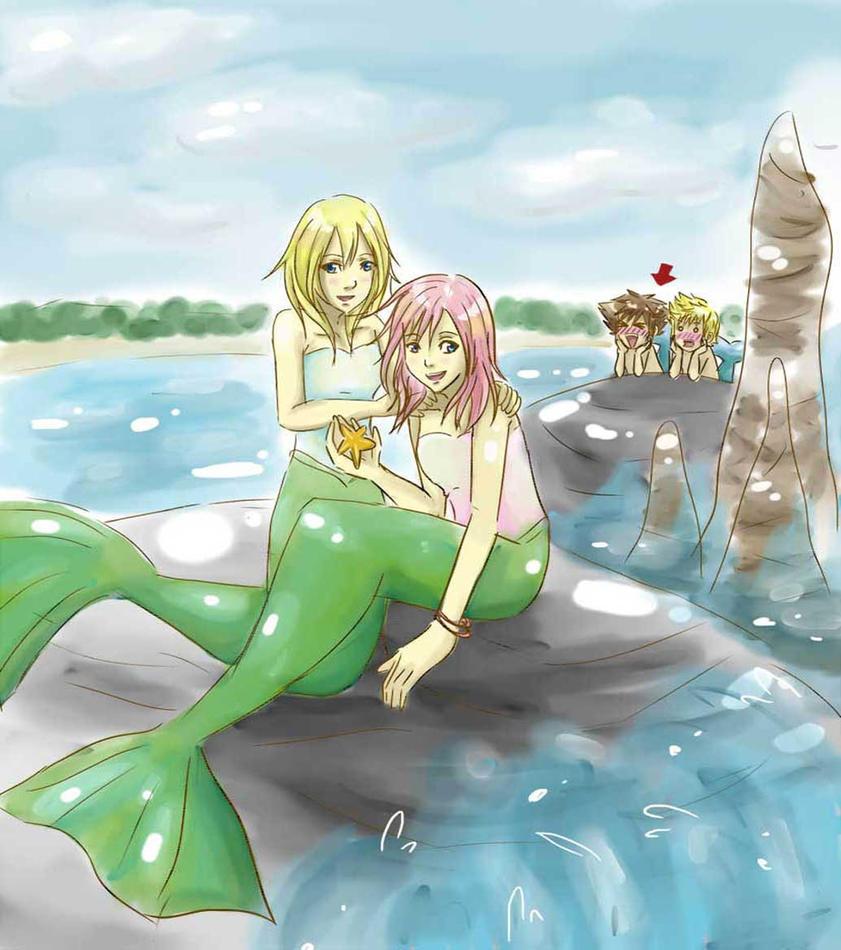 mermaids and.... perverts? by SpringMango