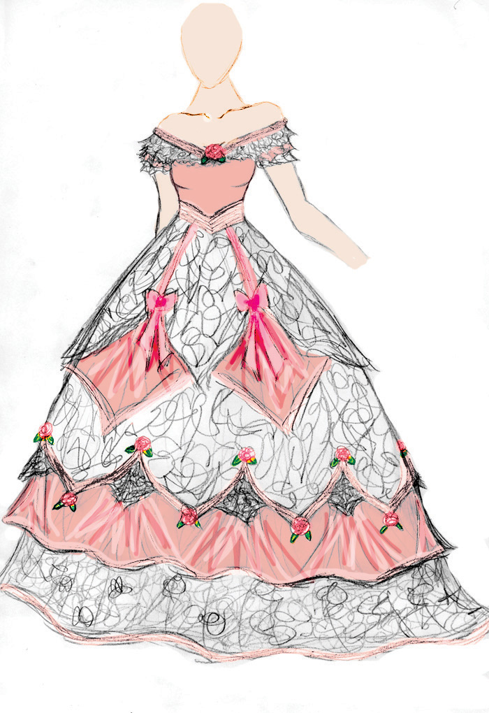 Rose Ball Gown By Spirit Of The Mist On Deviantart