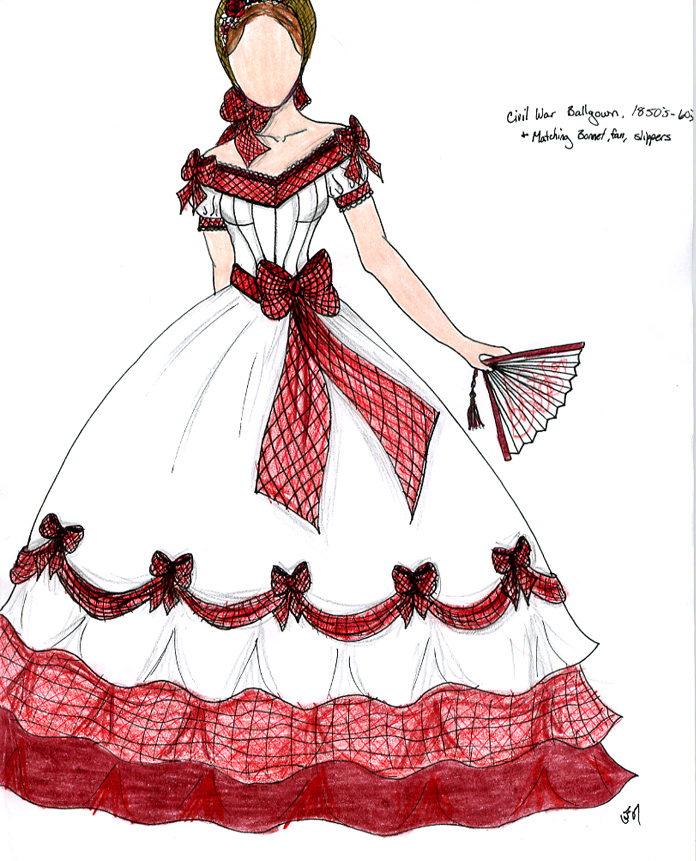 Plaid Civil War Gown by Spirit-of-the-Mist