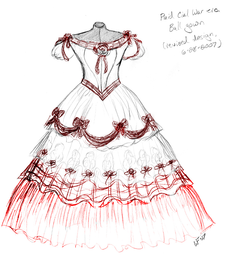 REVISED Plaid Ballgown design by Spirit-of-the-Mist