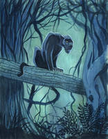 Panther Gouache Painting