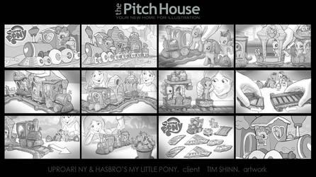 My Little Pony Train Storyboards by timshinn73