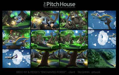 FedEx Enchanted Forest Storyboards by timshinn73