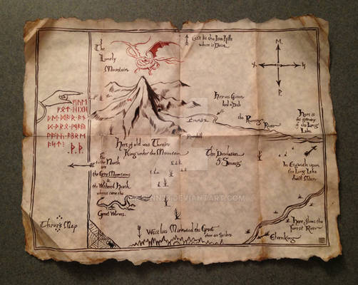 Thror's Map From The Hobbit