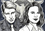 Agent Carter and Captain America Sketch Cards